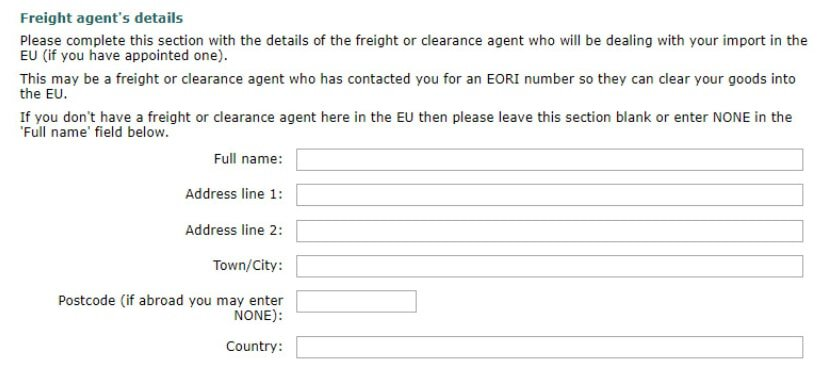 how to get an eori number freight