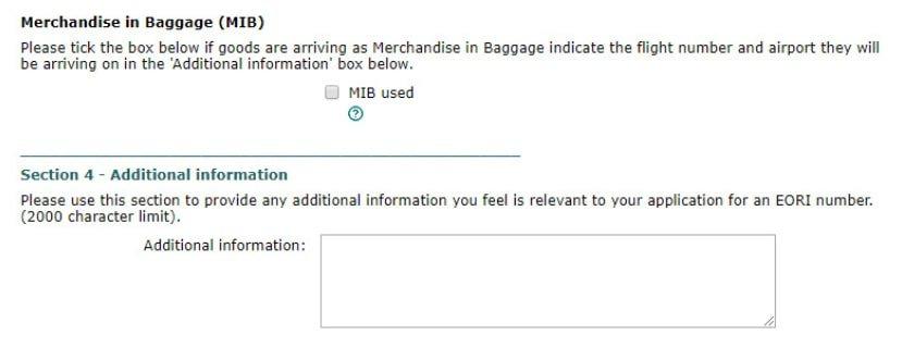 how to get eori number merchandise