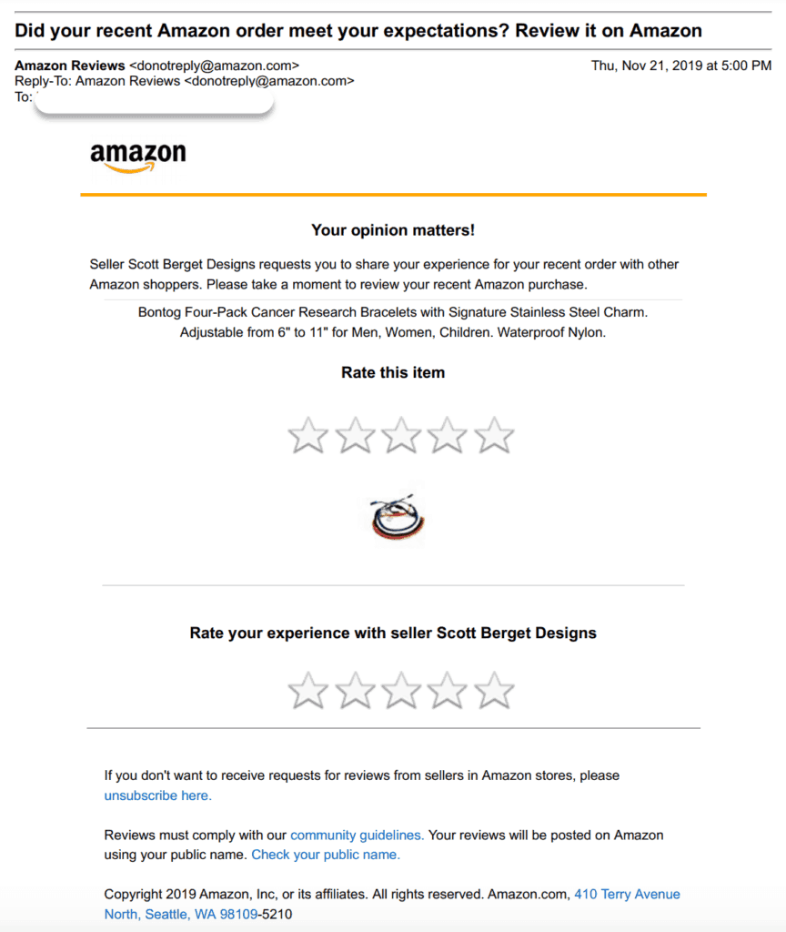 amazon request review